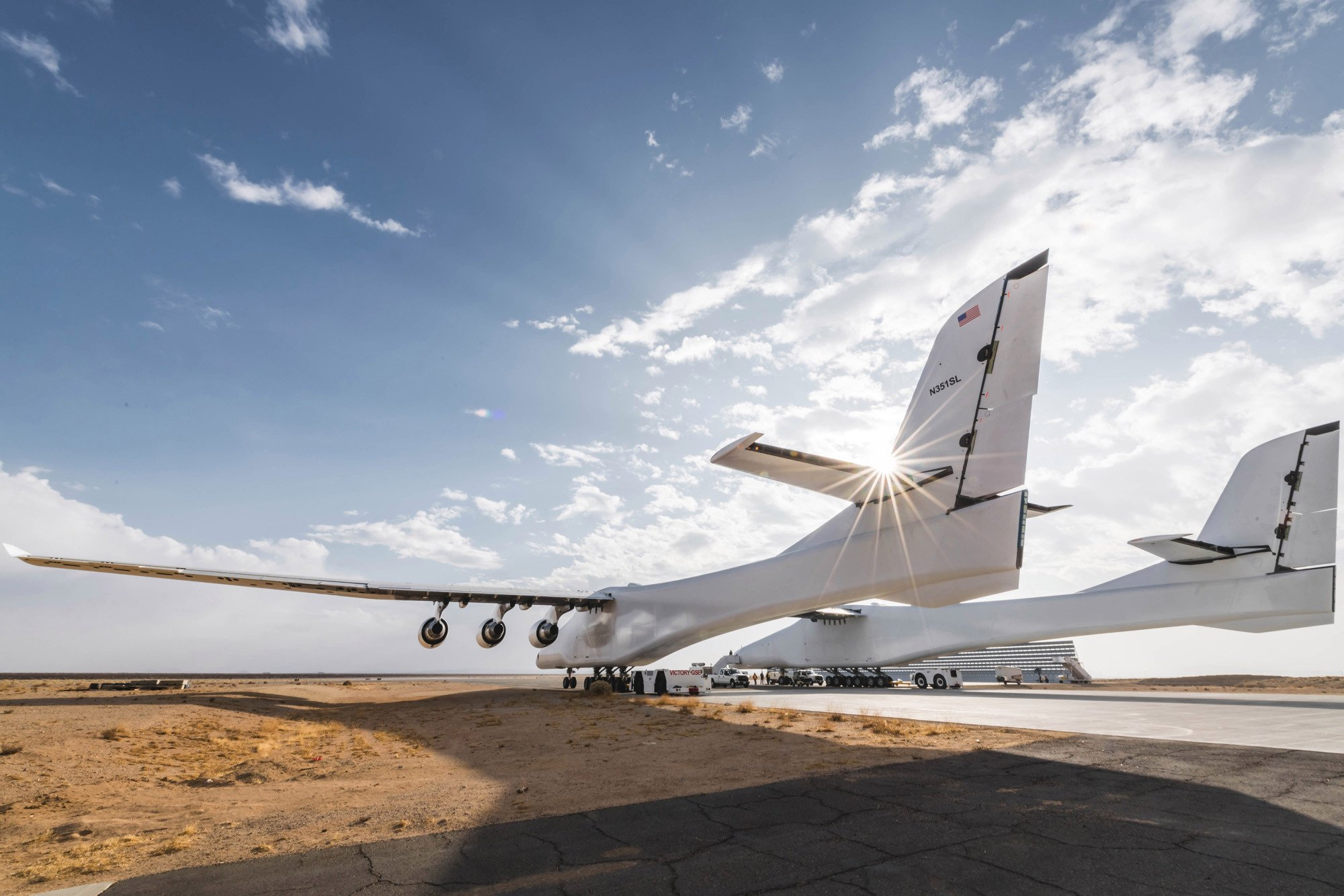 Largest airplane ever built set to take first flight