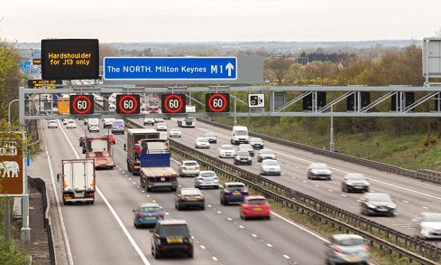 Drivers are fined after being flashed by 'smart motorway' cameras