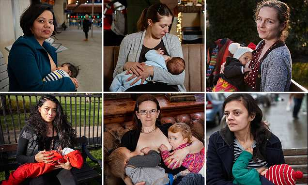 Photographer shares portraits of London mums breastfeeding in public