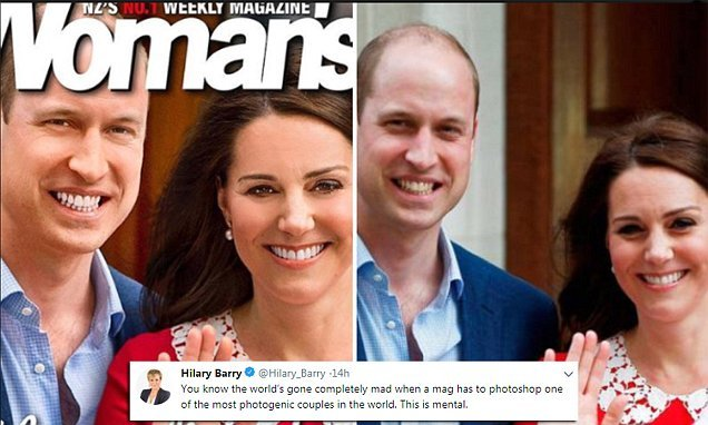 Magazine blasted for heavily edited cover image of Kate and William