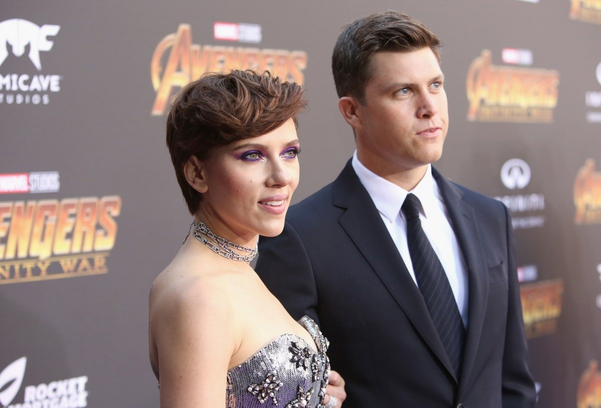 Scarlett Johansson & Colin Jost's Red Carpet Debut Was Years In The Making