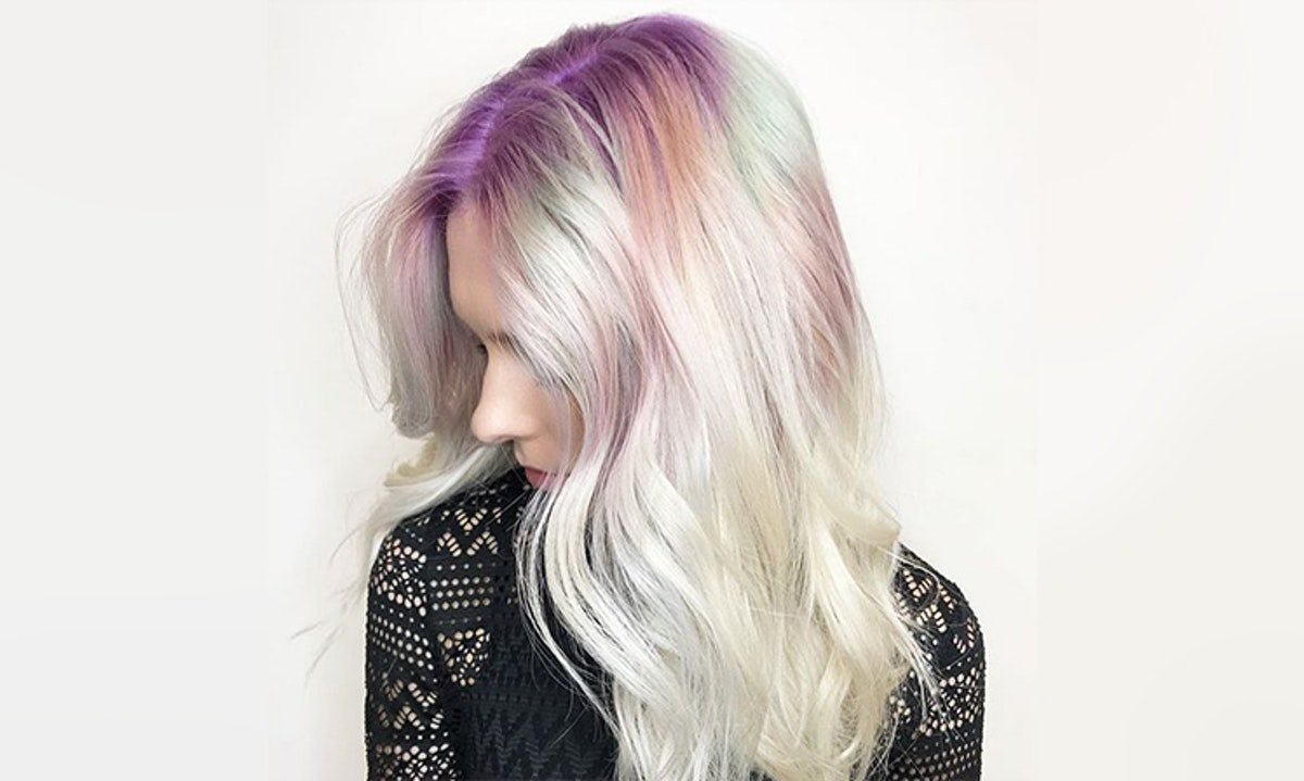 The Rainbow Roots Hair Trend Is Inspired By Crystals, So It Basically Gives You Superpowers