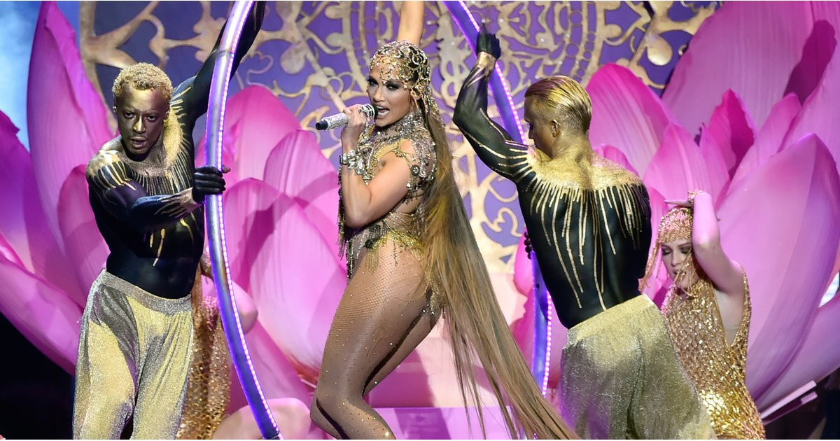 """Jennifer Lopez's Sexy, Sheer Performance Outfit Will Have You Screaming, """"Let's Get Loud!"""""""