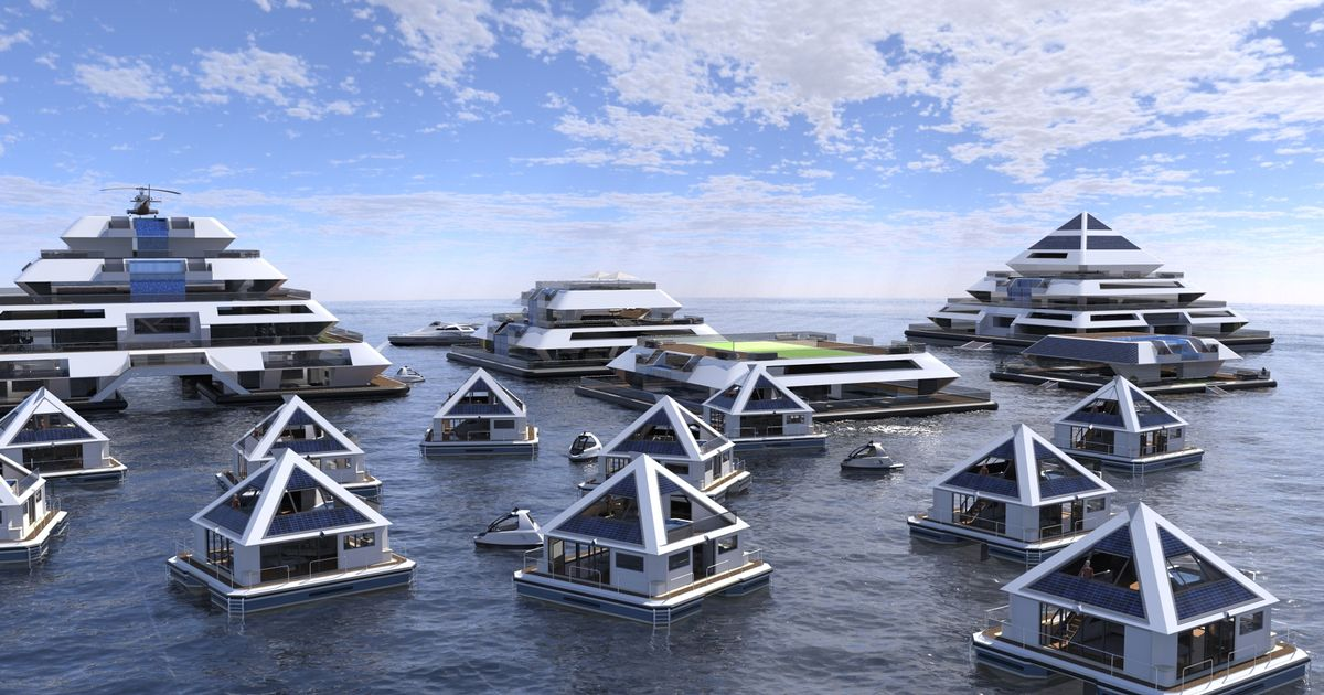 Floating solar-powered pyramids will create a city of the future