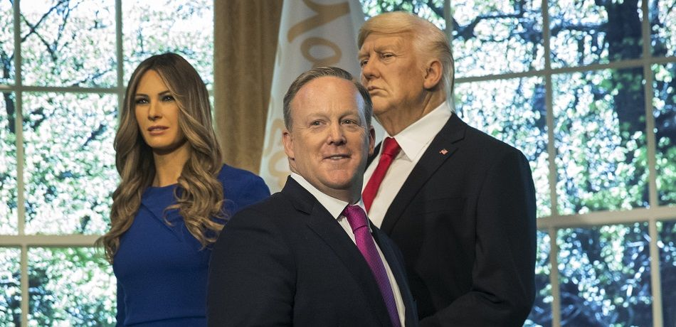 Sean Spicer Presides Over Unveiling Of Melania Trump Wax Figure At Madame Tussauds In NYC