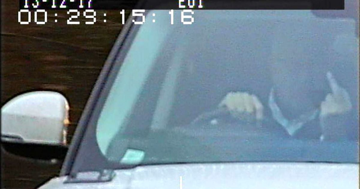 Driver who repeatedly stuck middle finger up to speed cameras has been jailed