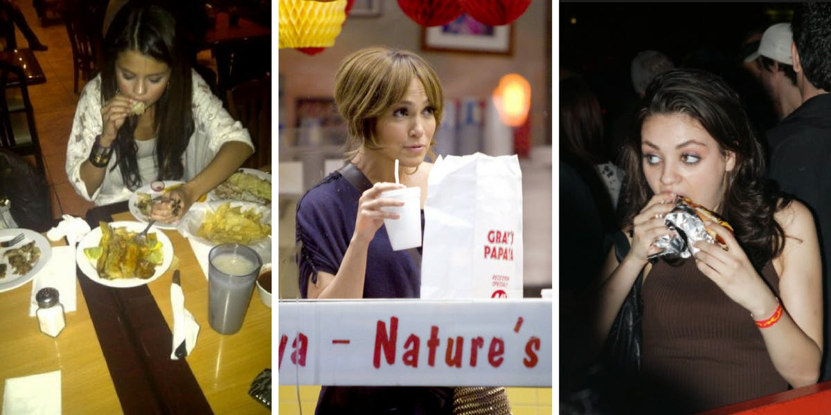 25 Embarrassing Pics Of Celebs Indulging In Fast Food Like The Rest Of Us