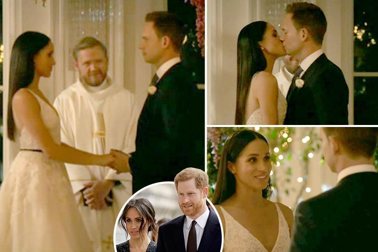 Meghan Markle gets married on Suits in her final ever appearance as Rachel, three weeks before Prince Harry wedding