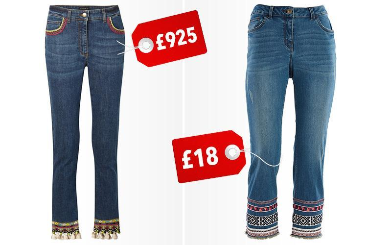 Morrisons is selling embroidered jeans that look just like a £925 pair from Etro… but they're only £18