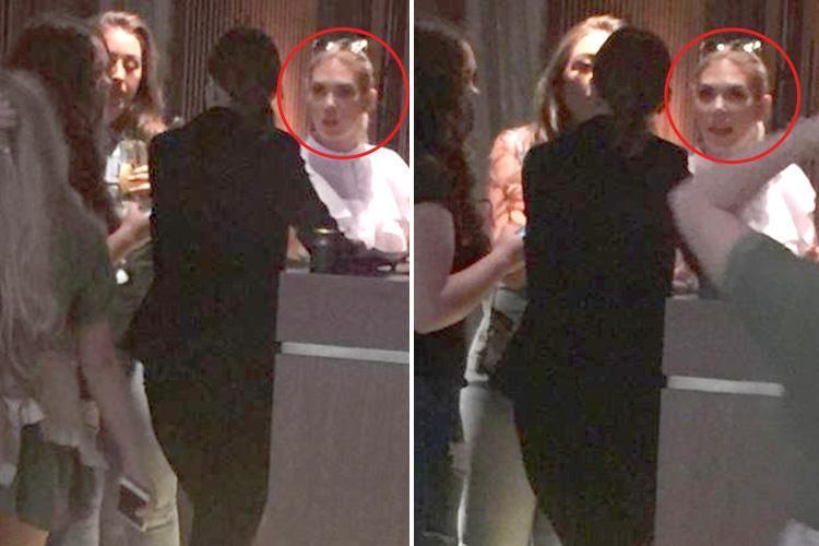 This is the moment Towie's Frankie Essex attempts to leave top celeb hangout Nobu without paying the bill