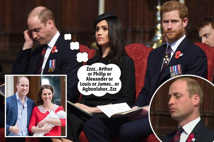 Prince William struggles to stay awake in Westminster Abbey after two nights with Royal baby