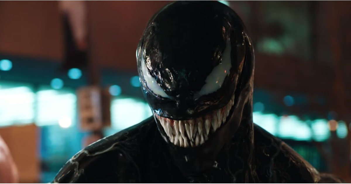 Tom Hardy's Terrifying Venom Finally Makes an Appearance in the New Trailer