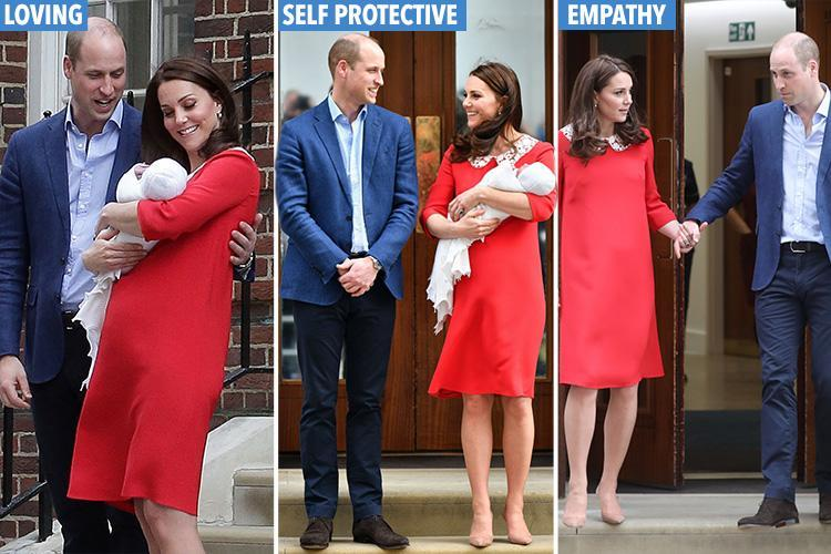 Self-protective, loving and intimate: What Kate and Wills' body language with their new baby boy reveals