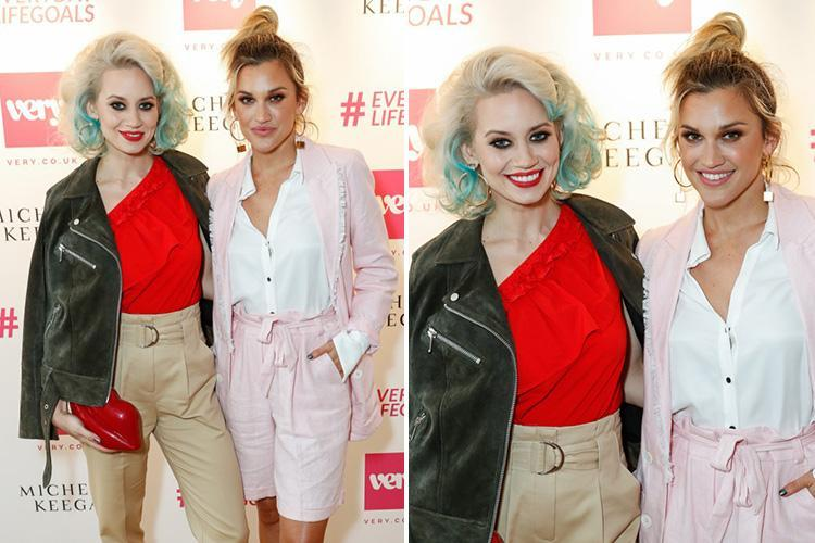 Ashley Roberts supported by Pussycat Dolls bandmate Kimberly Wyatt after her father's suicide