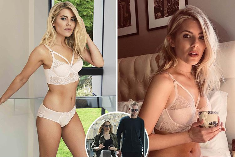 Mollie King poses in white lacy underwear for lingerie advert after her romantic date with Stuart Broad