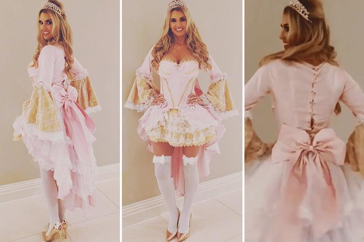 Christine McGuinness poses in a low-cut pink corset for Real Housewives Of Cheshire debut after revealing she NEVER goes out without husband Paddy