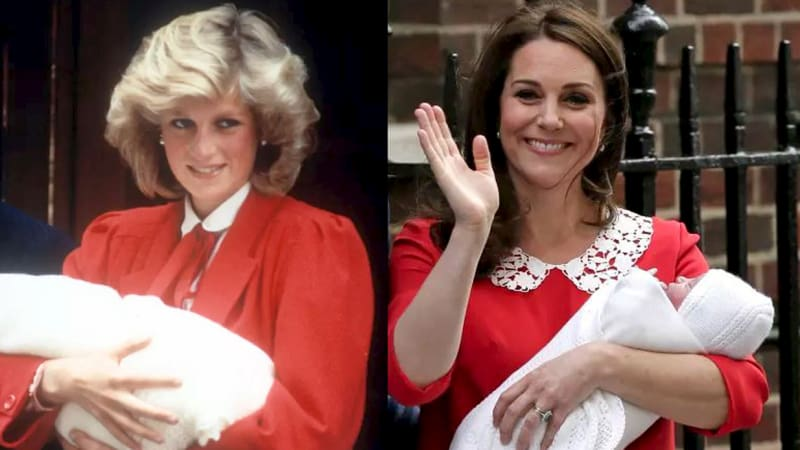 Kate channels Diana on the post-partum red carpet