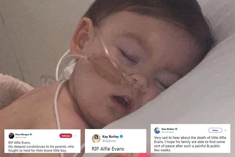 Tributes flood in for Alfie Evans as world reacts to news brave tot has died