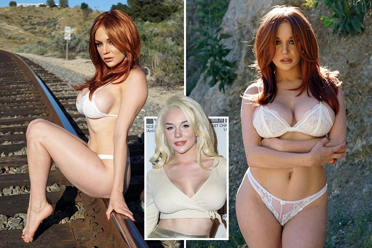 Courtney Stodden looks unrecognisable as she swaps her long blonde hair for a red wig