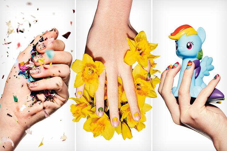 Spring to it with the latest colourful trends and simple designs for your nails