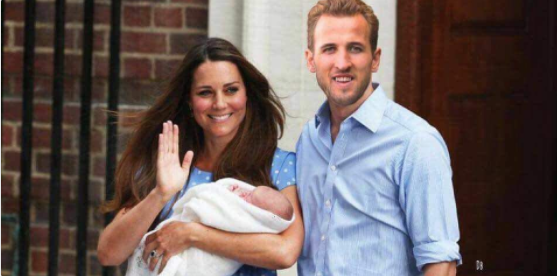 Royal baby memes sweep the internet as Tottenham striker Harry Kane is photoshopped into pic with Kate Middleton and the new prince
