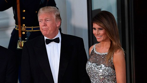 Melania Trump Stuns In Silver Sequin Gown At Donald's First Ever State Dinner– See Pics