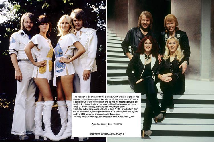 Abba are back and have secretly recorded two new songs 35 years after band split