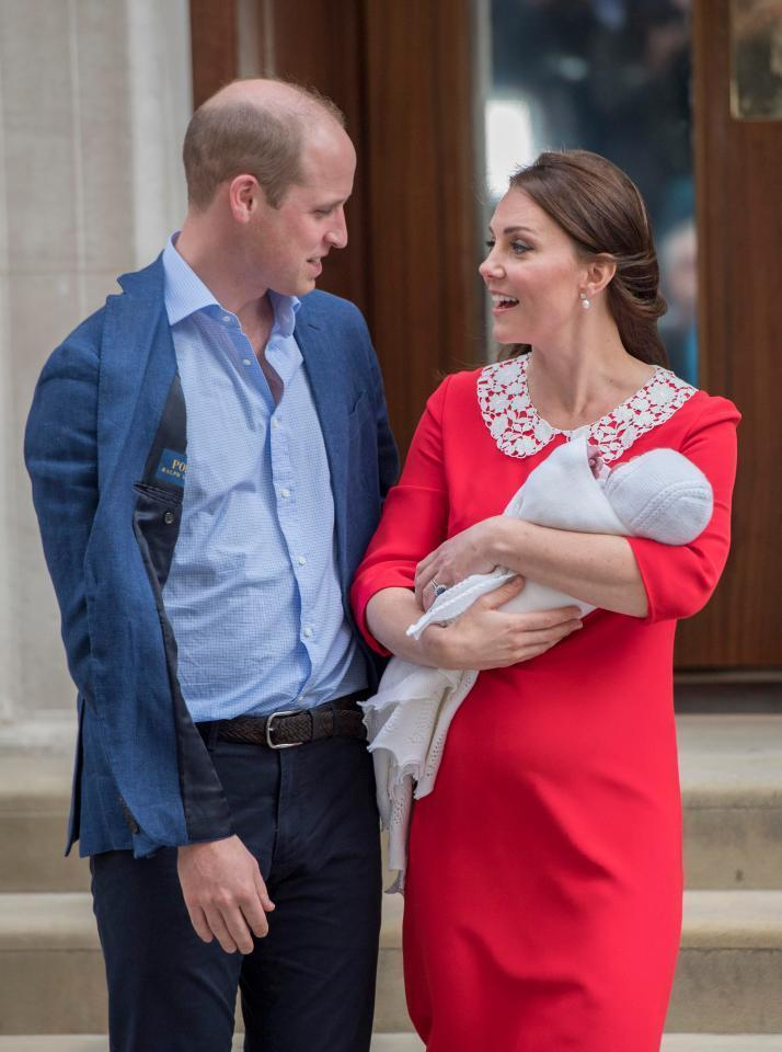 This is what William and Kate said to each other as they introduced their third child to the world