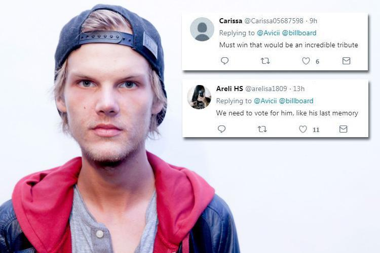 Avicii fans call for him to be given posthumous honour at Billboard Awards after final tweet revealed his delight at nomination days before shock death