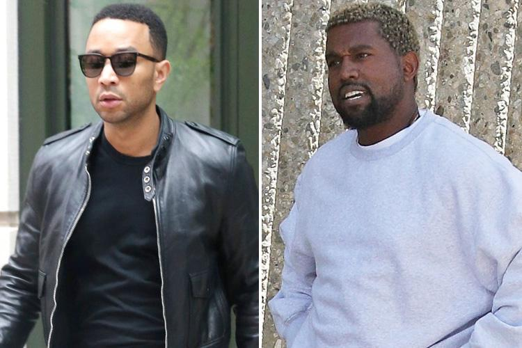 Kanye West accuses John Legend of 'using tactics based on fear to manipulate him' as he Tweets his text messages pleading with him to stop supporting Trump