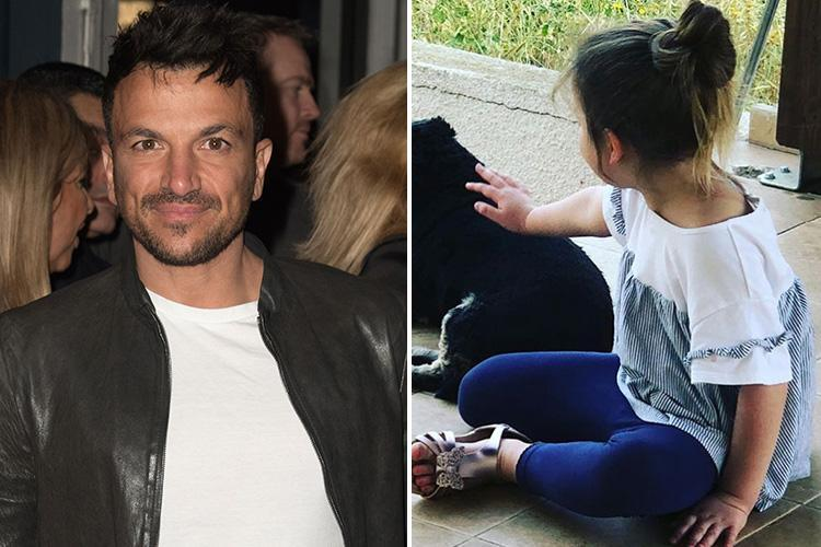 Peter Andre reveals daughter Amelia, 4, has never heard his hit Mysterious Girl