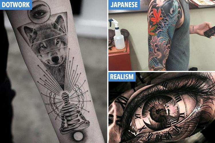 These are the top 10 tattoo trends of 2018 so far… from Japanese inks to 3D 'realism' body art