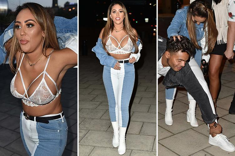 Geordie Shore stars go wild in Newcastle as Sophie Kasaei strips to her bra for night out with Chloe Ferry and Sam Gowland