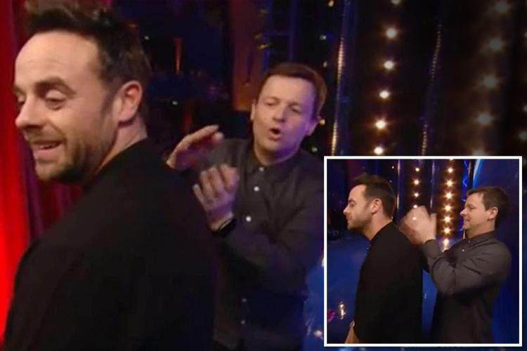 Dec Donnelly gives 'stressed' Ant McPartlin a massage on Britain's Got Talent weeks before drink-drive arrest