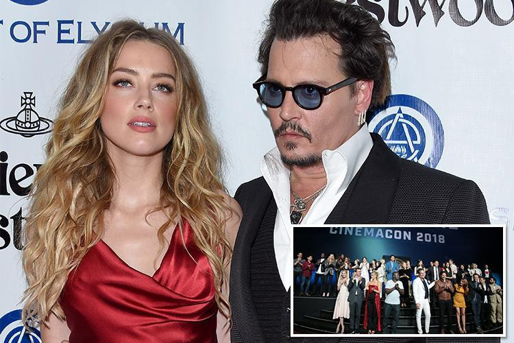 Johnny Depp ducks out of huge movie promotion bash 'to avoid awkward encounter with ex wife Amber Heard'