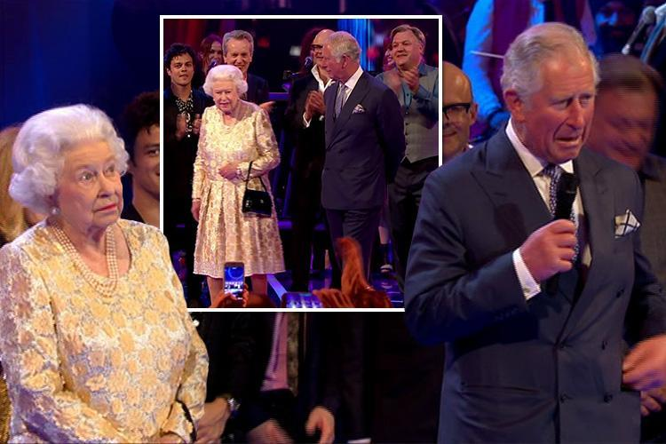 Queen's Birthday Party viewers in hysterics as The Queen rolls her eyes when Prince Charles calls her mummy