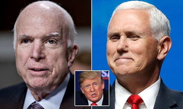 Cancer-stricken McCain 'wants Pence at his funeral – but not Trump'