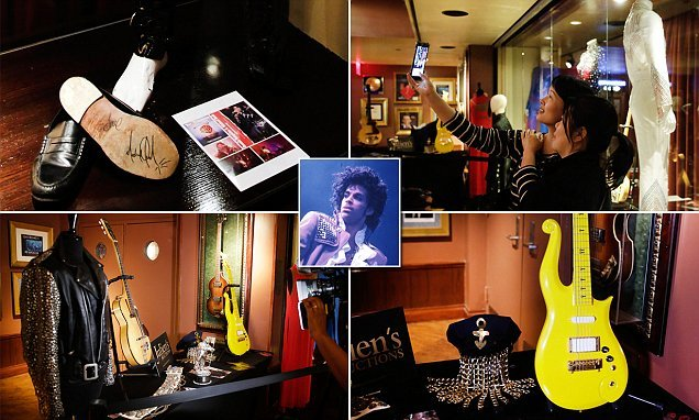 Prince's white Cloud guitar among hundreds of items set for auction