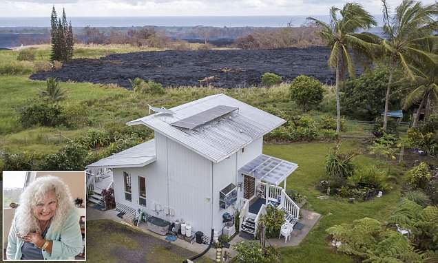 Lava stops just yards short of engulfing home of Hawaii woman, 75