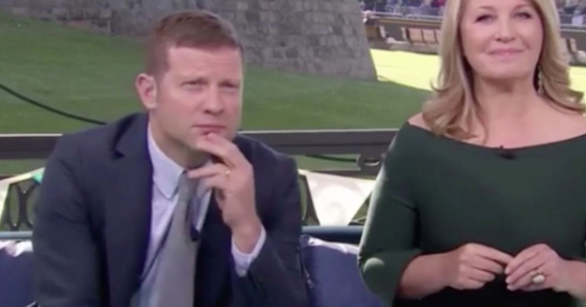 Dermot O'Leary fluffs up during gruelling Royal Wedding coverage