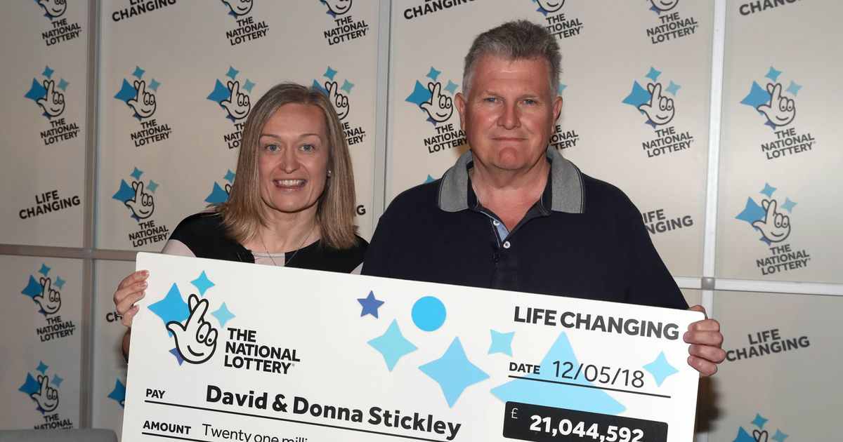 Couple scoop £21m Lotto jackpot after checking ticket left at bottom of handbag