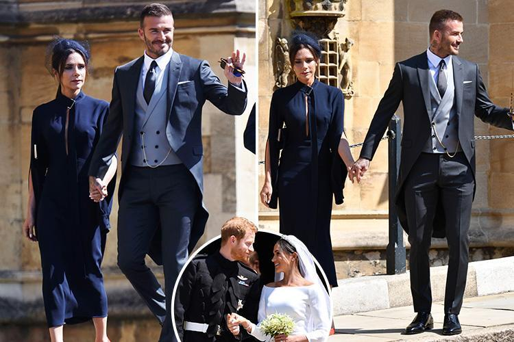 Victoria Beckham denies being nervous at the Royal Wedding despite failing to crack a smile and praises Meghan Markle as 'a genuinely lovely woman'