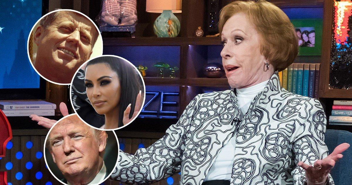 What Carol Burnett Told Andy Cohen About Meeting Kim Kardashian, Donald Trump and JFK