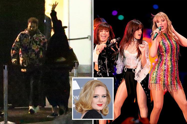 Adele waves at fans after watching Taylor Swift, Selena Gomez and Charlie XCX in concert