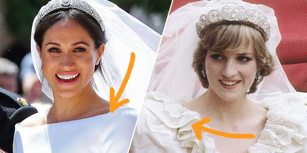All the Ways Meghan Markle's Wedding Gown Is Different From Princess Diana's