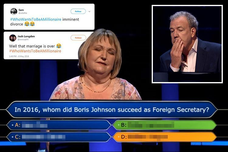 Who Wants To Be A Millionaire viewers predict divorce for contestant who ignored husband's correct answer and lost £31,000