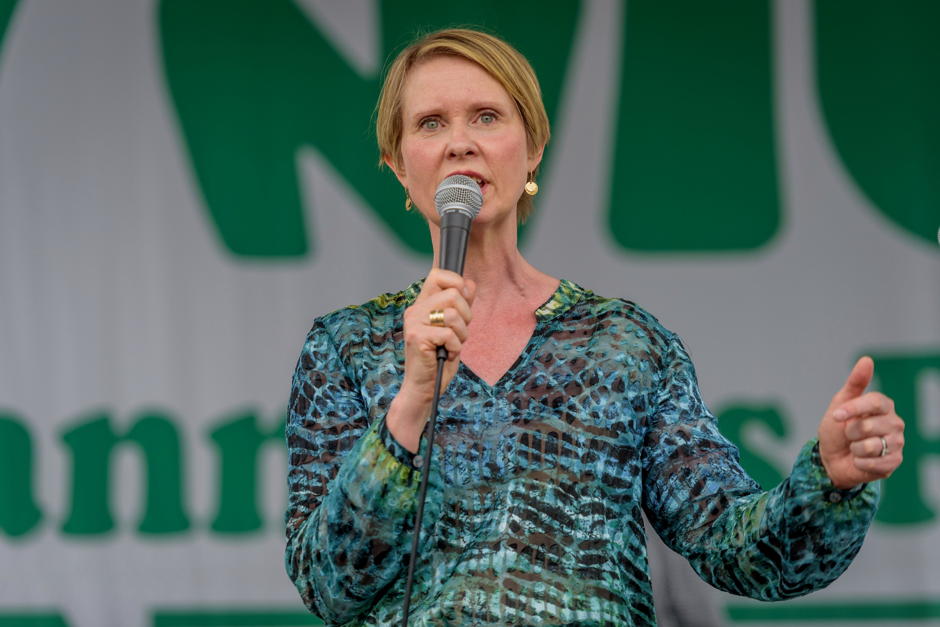 Cynthia Nixon wants to use marijuana licenses as 'reparations'