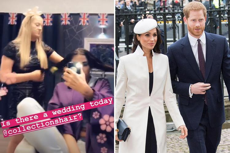 Katie Price hints she's going to the Royal Wedding as she gets her hair done in salon 30 minutes from Windsor castle