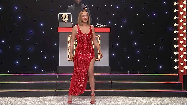 Jennifer Lopez Busts A Move & Puts Insane Figure On Display In Beaded Red Dress — Watch