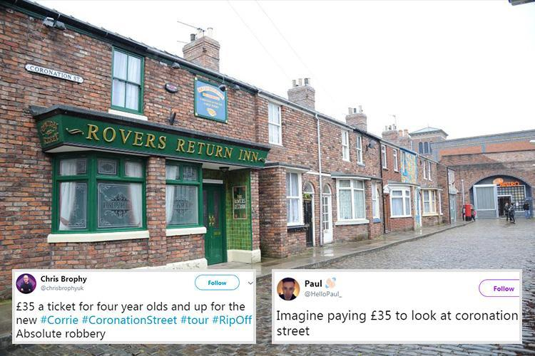 Coronation Street fans furious at 'rip off' £35 studio tour price for everyone over the age of three